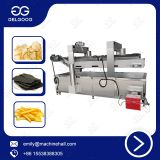 Stainless Steel Snack Food Equipment Coated Peanut Frying Machine Industrial Potato Chips Deep Fryer