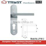 LH190-2:Solid Stainless Steel Door Handle with lock plate