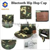 Bluetooth Baseball cap spring and summer outdoor leisure hip hop cap Bluetooth flat-brimmed hat