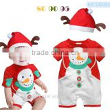 new born infant toddler baby Christmas snowman printed One-piece garment design MY-IA0009