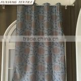100%Polyester jacquard flower 8 hidden loops window curtains/panels