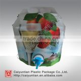 Liquid stand up Spout juice liquid plastic packaging pouch bag for spout pouch filling machine