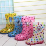 Child boots students water shoes The child in the high-end cartoon high cylinder rubber soled boots