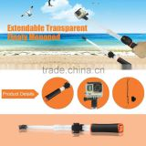 Waterproof Transparent Float Handheld Monopod Selfie Stick for GoPro Hero 1 2 3 4 /SJCAM/XIAOYI CAM