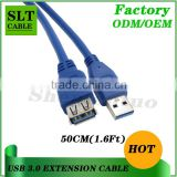 Shenlantuo USB 3.0 Extension Cable A Male to A Female 50cm USB 3.0 AM To AF Cable for Data Sync and Charging