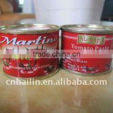 400g Easy open red pack tomato puree for stock canned tomato paste !! Good quality canned tomato paste for good market