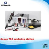 High quality !!! Aoyue 768 hot air soldering desoldering station, aoyue768 bga welding station