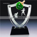 luxury new arrive crystal trophy crystal plaque for sports award crystal glass award souvienir