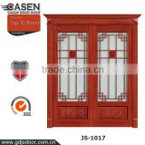 The newest contemporary design glass double sliding doors main entrance wooden door for exterior