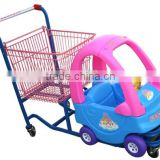 Kids metal and plastic shopping trolley cart