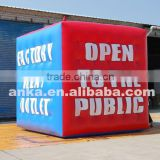 Large pvc cube balloon inflatable square helium balloons for party                                                                                                         Supplier's Choice