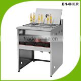 (BN-6HX.R) Cosbao professional production commercial gas noodle cooker, pasta cooker, lpg 6 gas cookers