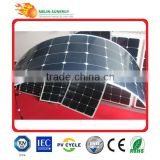 100W Semi Flexible light weight solar panel
