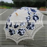 Classical style splicing cotton umbrlla parasol lace                                                                         Quality Choice