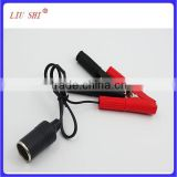 Car battery clip with cable/alligator clip to auto cigarette lighter plug/crocodile clip to car cigarette socket