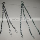 metal hanging flower plant pot holder hanger basket chains