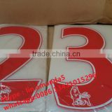 manufacture of soccer jersey number and letter for Barcelona team