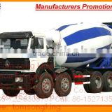 North Benz Cement Truck concrete mixer truck /8*4/1500+2950+1450/3136B 336~380HP 12~14m3 factory sale