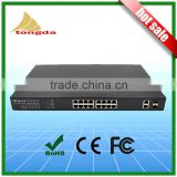 Atongda 16 Port 10/100/1000Mbps with 2 gigabit SFP combo port IEEE802.3 af /at standard FIBER OPTIC POE switch