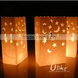 lantern candle bag fireproof candle bag paper halloween paper bag lanterns halloween party decoration