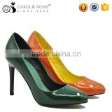 Shiny pu evening party lady shoes high heel bridal shoes china