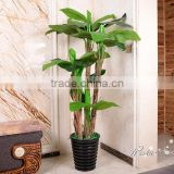 Popular high quality low cost artificial banana tree for indoor decoration