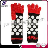 Winter long warm woolen felt hand knitted gloves factory wholesale sales (accept custom)