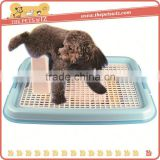 Wire dog toilet ,CC028 medium plastic dog toilet with grid , pet dog cat puppy wee training s toilet