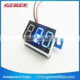 "0.36"" Lithium Battery Digital Voltmeter dc 3.3V-17V Blue LED Ultra Small Panel Meter"