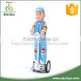New design vinyl baby doll toy with electric balance car