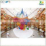 Kids indoor colorful nylon rope hand knitted air climbing net                                                                         Quality Choice