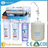 domestic 6 stage New hot product plastic alkaline water filter reverse osmosis system water filter with uv sterilizer