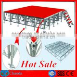 1.22m*2.44m satge decoration ideas used portable stage for sale/ wedding stage decoration