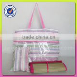 Best selling cheap paper straw beach bag with pillow and mat