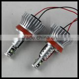 2*40W H8 LED C ree HID Bulb 6000k Angel Eyes light For BMW E60 E61 E63 E64 E70 X5 E71 X6 E82 E87 E89 Z4 E90 E91 E92 M3 E93