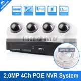 4CH 2.0MP 1080P POE NVR Camera KIT Camera Video Surveillance System 4Channel POE Record Playback Vandal-proof Indoor IP Camera