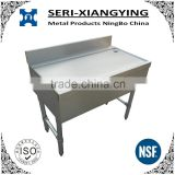 NSF Approval Stainless Steel Bar Table with Full Drain Board