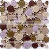 Metallic mosaic gold foil mosaic silver foil mosaic Glass tile decoration material building material
