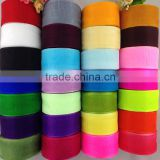 Wholesale Cheap Sheer Organza Ribbon Christmas Wedding Celebrate It Ribbon For Gift Box Fresh Flower Packaging Decoration 50yds