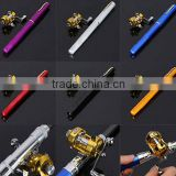 Mini Portable Pocket Fishing rod / pen fishing rod / fishing Rod Pole Reel