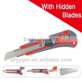 Different Colors ABS Cutter Knife with One Hidden Refill Blade
