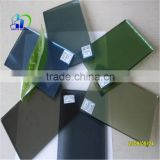 reflective patterned glass wall hanging coating reflective glass cubicle walls temepered float colored glass office walls