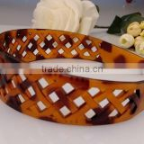 Women's Stylish magic broad braid tortoise shell plastic hair band headband