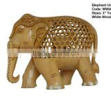 wooden elephant-handicrafts/antiqu- wooden statue/wooden handicraft-items
