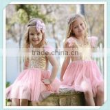 Latest Children Birthday Dress Designs Light Pink Boutique Girls Party Dresses Sequin Baby Tutu Baby Glitter Tutu Petti Dress