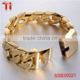 High quality men's bracelet 2016, fashion gold plated chain bracelet, wholesale new products bracelet