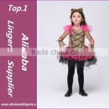 Cute Little Leopard Fancy dress Cat design Costume for Kids Cosplay Halloween Party decoration animal Footprint print tutu dress