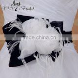 Exquisite Artificial Belts Bridal Gown flower Sash Formal Wedding Evening