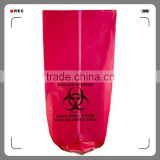 "30 Gallon 33"" X 40"" Red Isolation Infectious Waste Bag / Biohazard Bag High Density 17 Microns - 250 / Case"