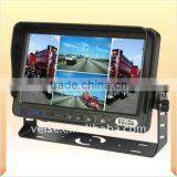 "7"" Digital Screen TFT LCD Color quad screen Car Monitor with Removable Sun Visor"